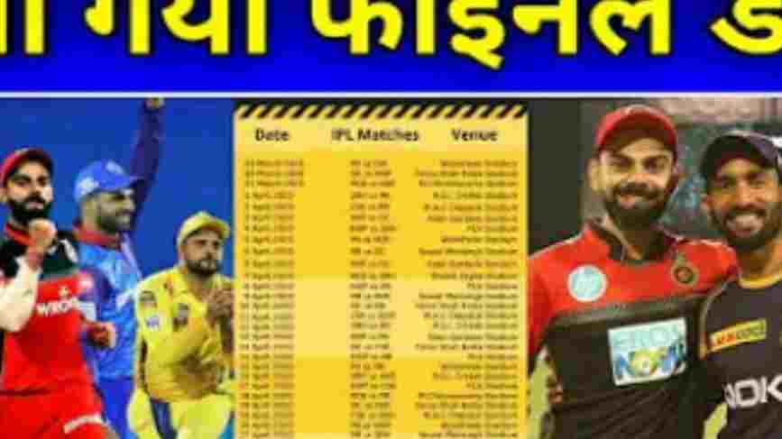 IPL Schedule 2021 New Schedule, Venue, Dates, Points, Match Table